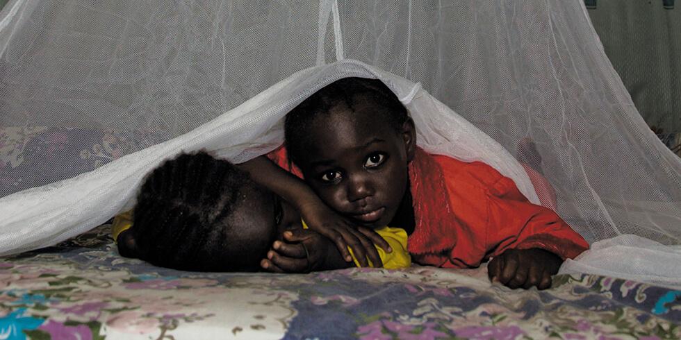 Enfants sous moustiquaire