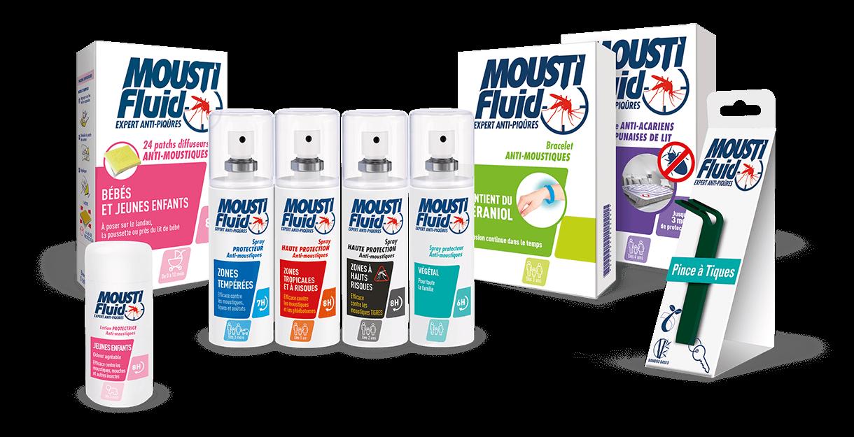 Moustifluid product range